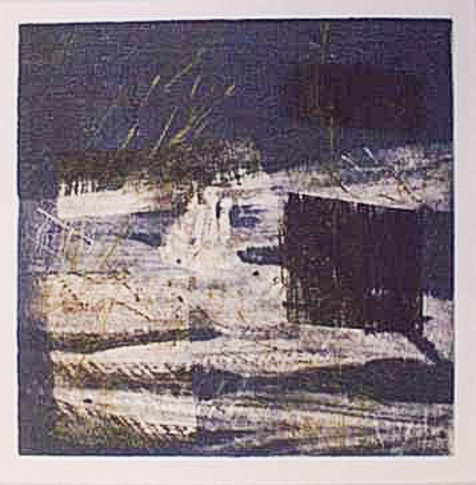Nocturne II, 1999, Gravure monotype 50x50cm