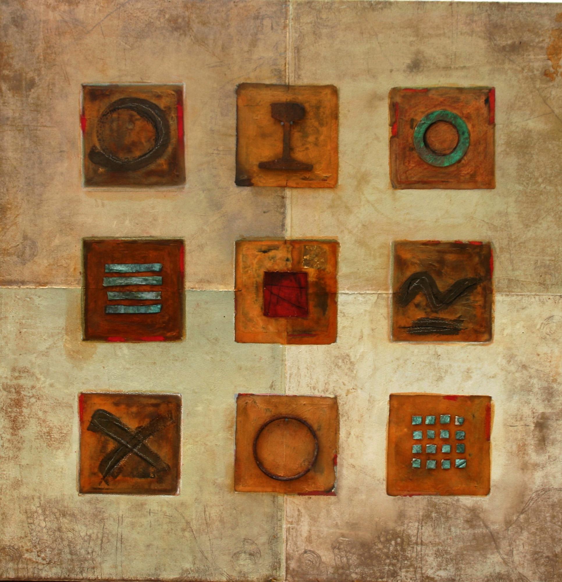 Les 9 portes, 2004, Peinture 100x100cm