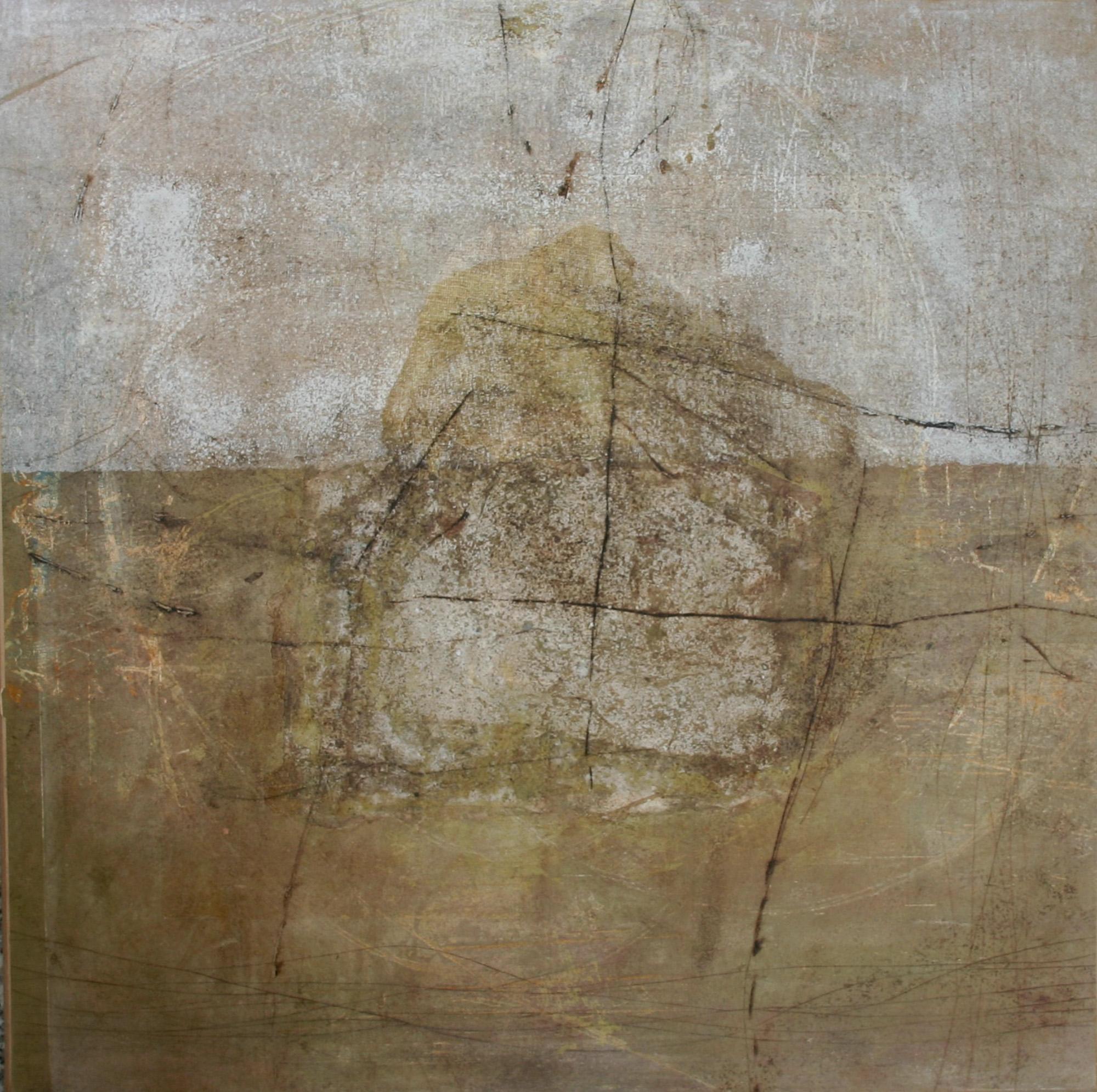 Ciel et sienne, 2004, Peinture 50x50cm