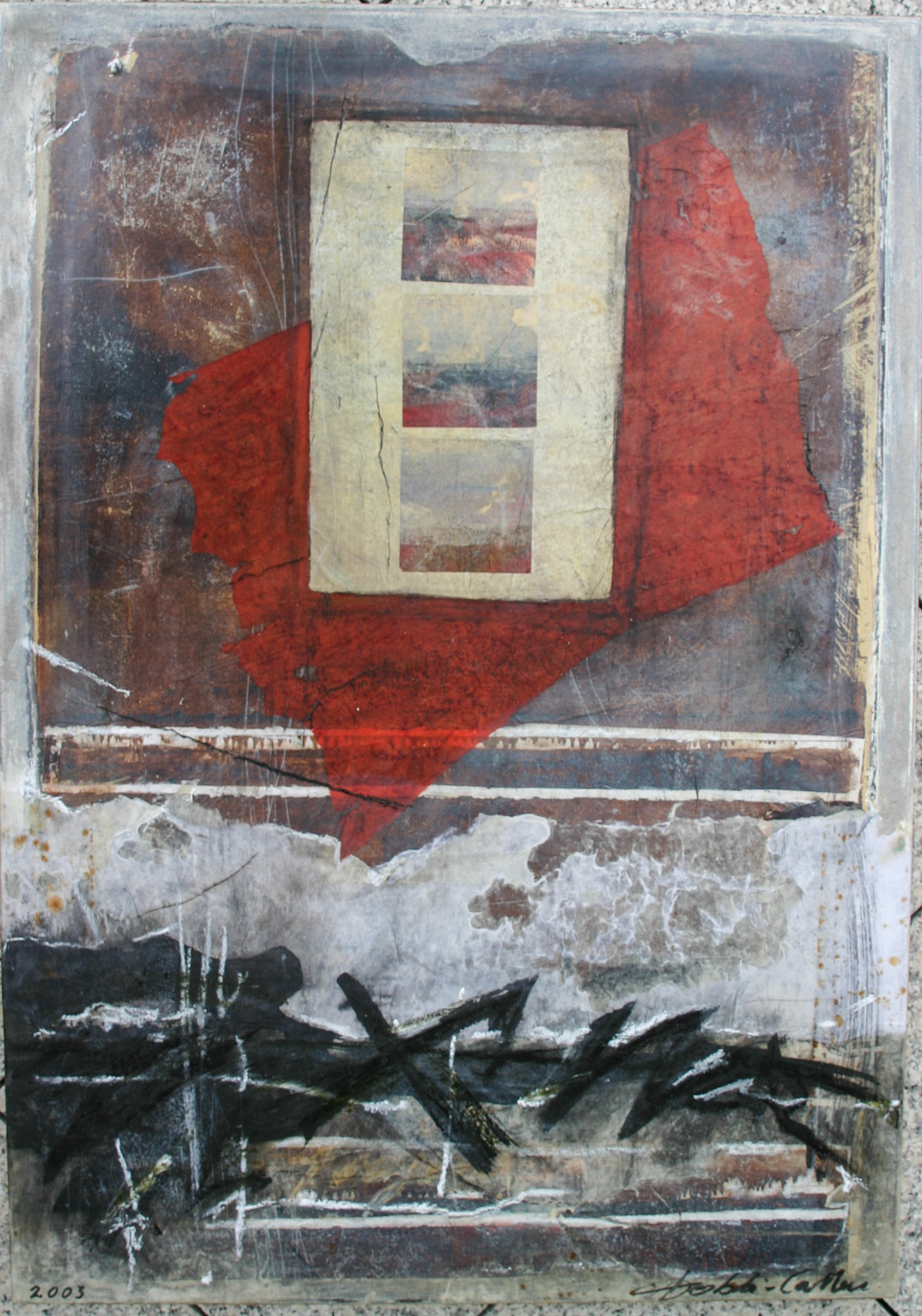 L'imprévisible, 2004, Peinture 100x100cm