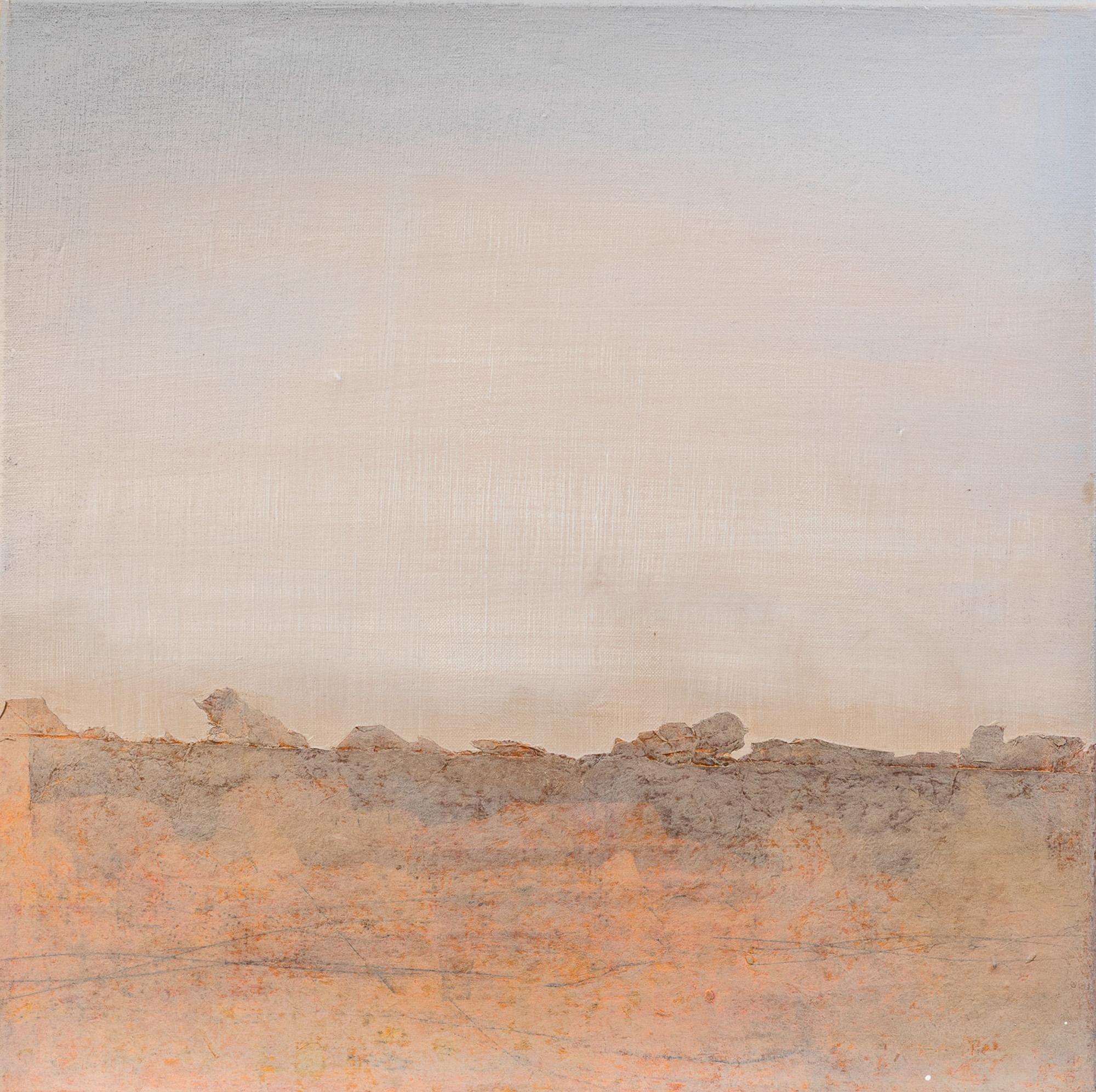Silence II, 2017, techniques mixtes, 50x50cm